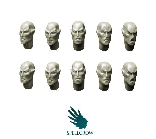 28mm Sci-Fi - Elves: Space Elves heads