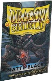 Dragon Shields: Matte Black Sleeves (100)