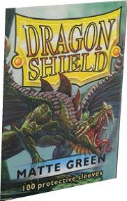 Dragon Shields:  Matte Green Sleeves (100)