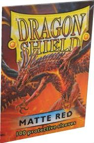 Dragon Shields:  Matte Red Sleeves (100)