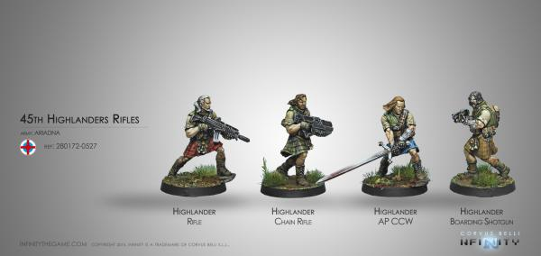 Infinity (#527) Ariadna: 45th Highlander Rifles ''Galwegian''