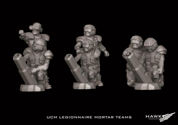 Dropzone Commander: (United Colonies Of Mankind) Legionnaire Mortar Teams