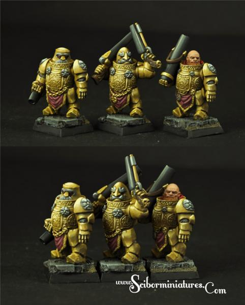 28mm Fantasy Miniatures: Dwarven Cannoneers set#2 (3)
