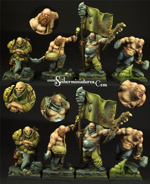 28mm Fantasy Miniatures: Ogre Cossack set#2 (4)