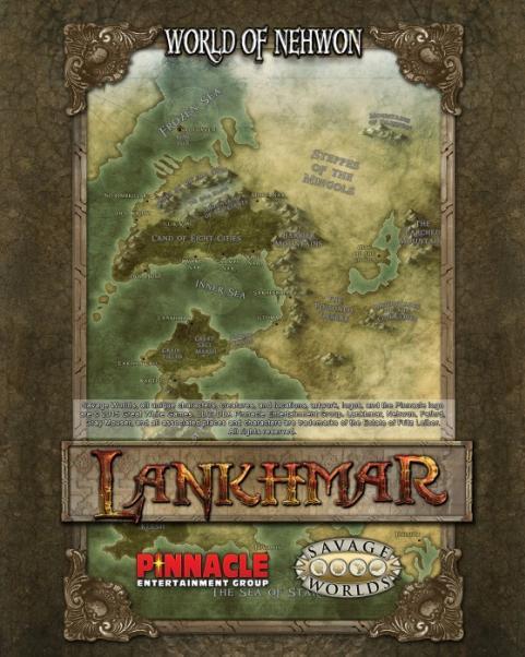 Savage Worlds RPG: Lankhmar Poster Map