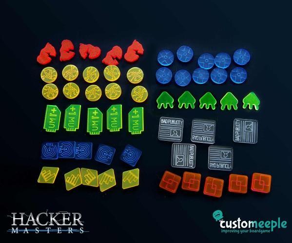 Android: Netrunner: Hacker markers set (Spanish)