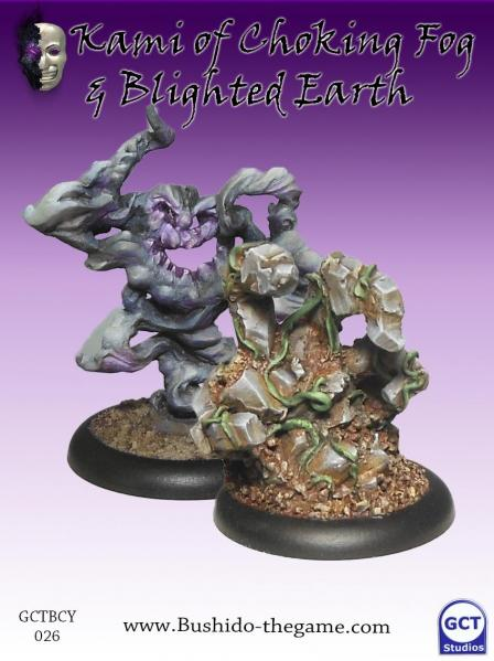 Bushido Miniatures: (Cult Of Yurei) Kami Of Choking Fog & Blighted Earth