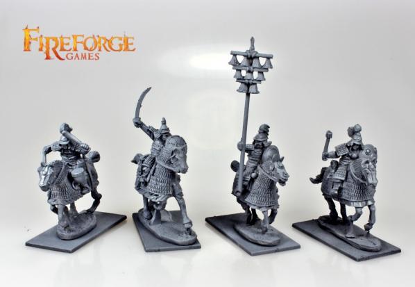 28mm Deus Vult: Mongol Heavy Cavalry Command (4)