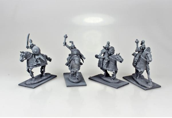 28mm Deus Vult: Mongol Heavy Cavalry w/Mixed Weapons (4)