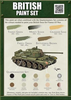 Colours Of War: British Paint Set