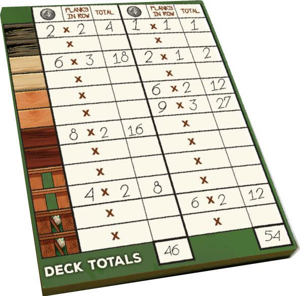 Deck Building Game: 100 Page Score Pad