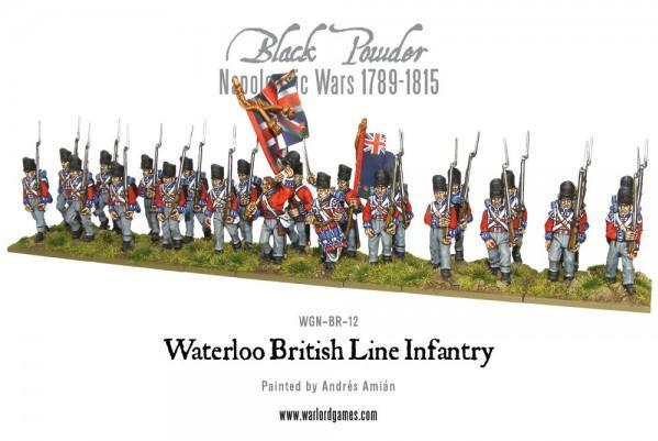 28mm Black Powder: British Line Infantry (Waterloo) - Plastic Box