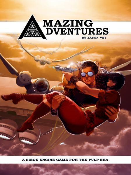 Amazing Adventures RPG: Pulp Era Rulebook (HC)