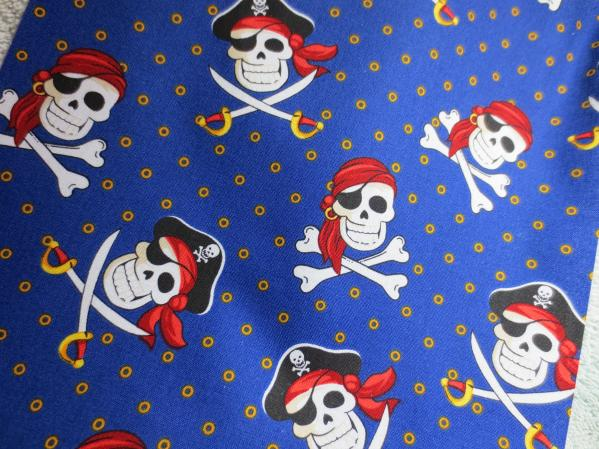 Cotton Dice Bag: Pirate Crossbones 2