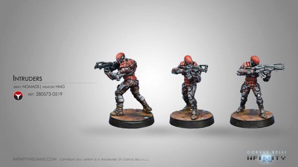 Infinity (#519) Nomads: Intruder, Corregidor Assault Commandos (HMG)
