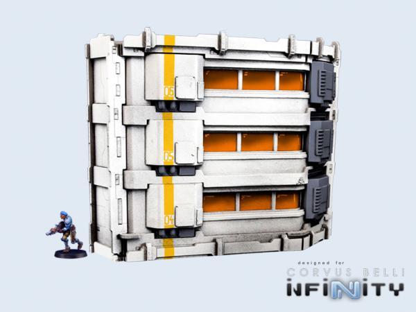 28mm Sci-Fi Terrain:  Habitat Tower (1)