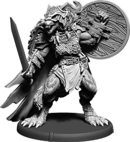Darklands: Hrōr, Werwulf Thegn (resin)