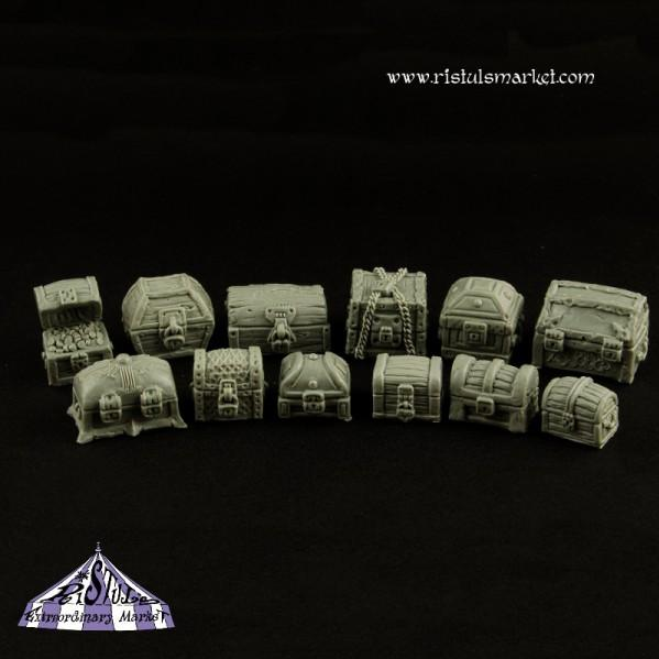 Extraordinary Basing Kits: Fantasy Treasure Chests Kit (12)