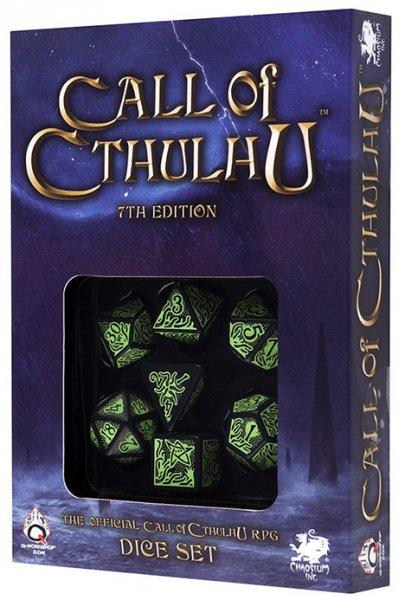 Call Of Cthulhu RPG: Black-Green Dice Set [7th Edition]
