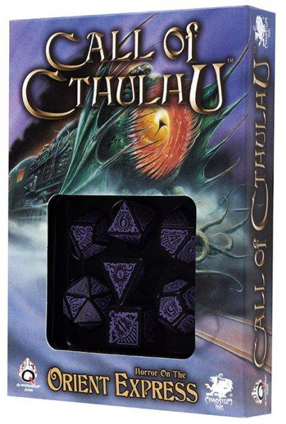 Call of Cthulhu: Horror on the Orient Express Black-purple dice set