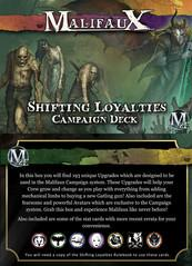 Malifaux: Shifting Loyalties Campaign Deck
