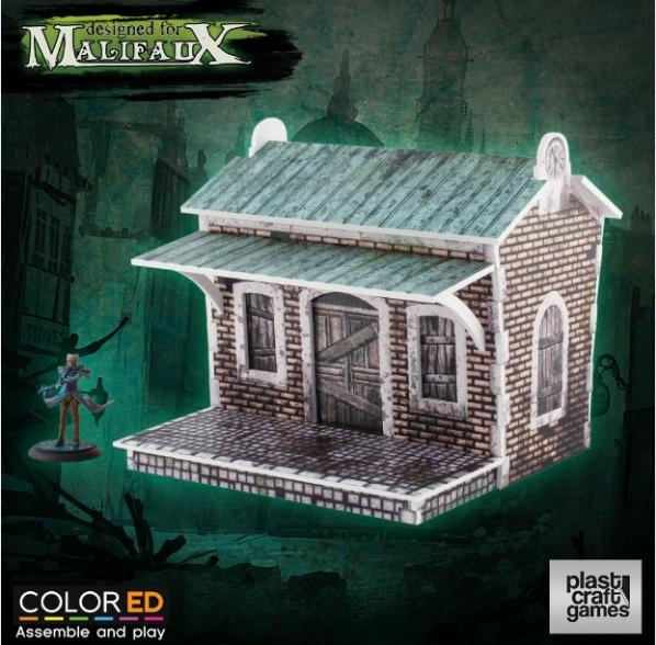 Malifaux: (Terrain) Train Halt (Color ED)
