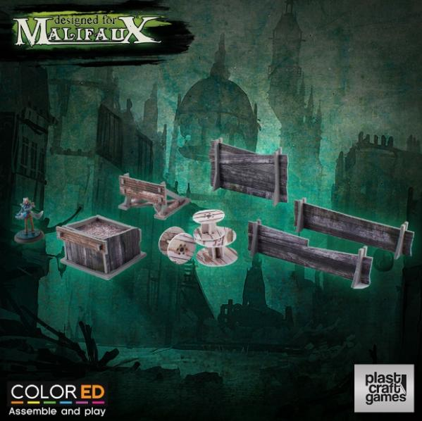 Malifaux: (Terrain) Railway Prop Set (Color ED)