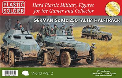 20mm WWII - German:  1/72nd German SdKfz 250 alte halftrack