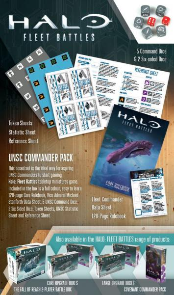 HALO Fleet Battles: (UNSC) Commander Pack