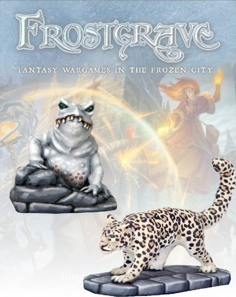 Frostgrave: Ice Toad & Snow Leopard