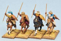 28mm Historical: (Armies Of Islam) Mutatawwi'a Fanatics (Horses) (Flat Teardrop Shields) (4)