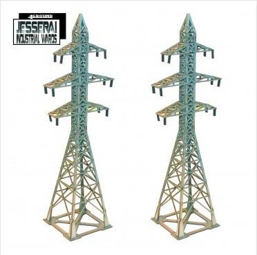 10mm Standard Terrain: 2x Pylons