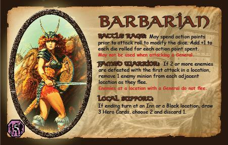 Defenders of the Realm - Barbarian (Card Only)