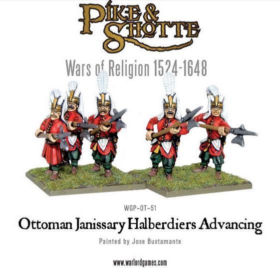 Ottoman Janissary Halberdiers Advancing