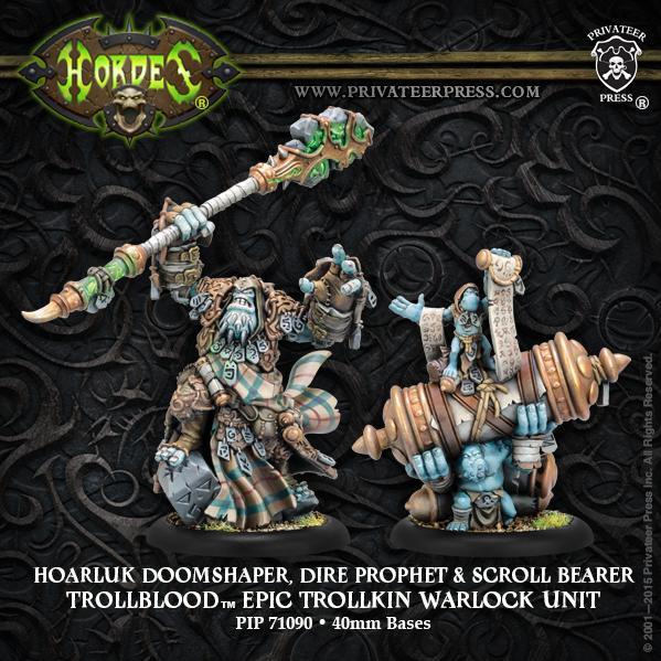 (Trollbloods) Hoarluk Doomshaper, Dire Prophet Epic Trollkin Warlock Unit (2)