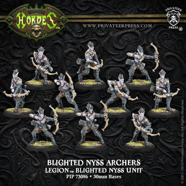 (Legion Of Everblight) Blighted Nyss Archers/Swordsmen Unit (10)(plastic)
