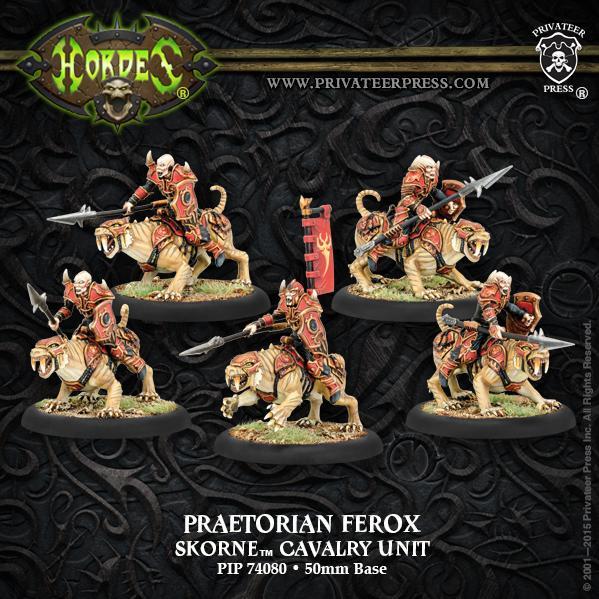 Hordes: (Skorne) Praetorian Ferox Cavalry Unit (5) (metal)