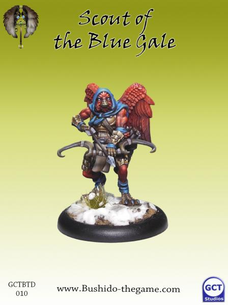 Bushido Miniatures: (Tengu Descension) Blue Gale Scout