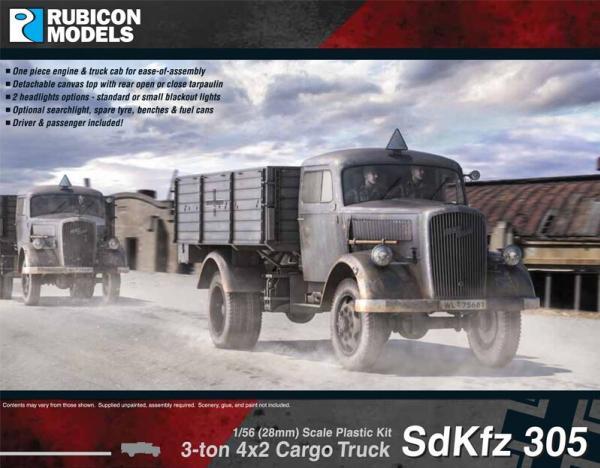 28mm WWII: (German) SdKfz 305 3-ton 4x2 Cargo Truck