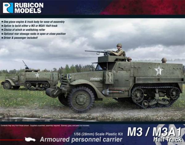 28mm WWII: (USA) M3/M3A1 Half Track