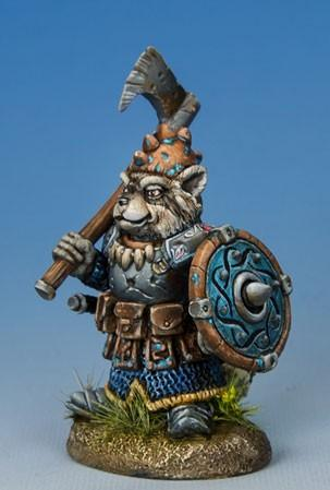 Critter Kingdoms: Raccoon Warrior w/Axe & Shield
