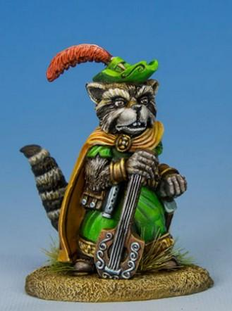 Critter Kingdoms: Raccoon Bard w/Lute