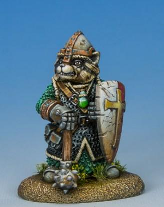 Critter Kingdoms: Raccoon Cleric w/Mace & Shield