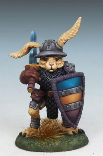 Critter Kingdoms: Rabbit Paladin w/Bastard Sword & Shield