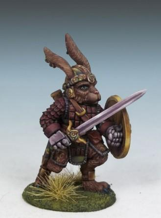Critter Kingdoms: Rabbit Warrior w/Long Sword & Shield