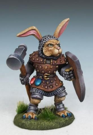 Rabbit Cleric w/Warhammer & Shield