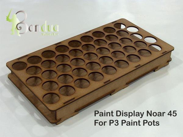 Bandua Accessories: Noar 45 Paint Display for P3 Paint Pots