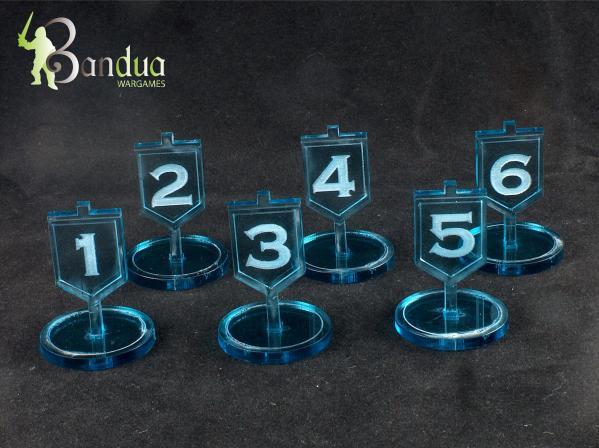 Bandua Accessories:  Objective Tokens - Blue