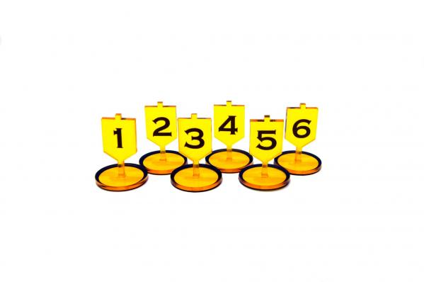 Bandua Accessories:  Objective Tokens - Yellow