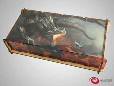 Board Gaming Accessories:  e-Raptor Token Box L - Knight Fighting Dragon